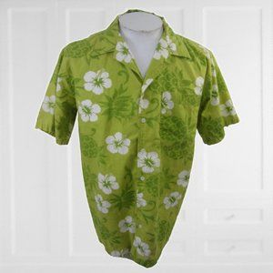 CB Classic Men Hawaiian camp shirt M floral